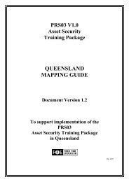 PRS03 Asset Security Training Package Mapping Guide