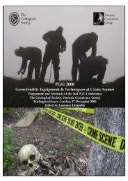 2008 Geoscientific Equipment & Techniques at Crime Scenes