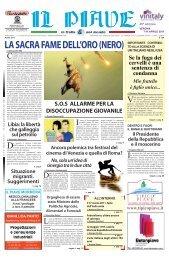 LA SACRA FAME DELL'ORO (NERO) - Museo del Piave