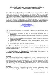 Reference Sheet for Workshops and capacity-building on ...