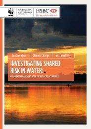 INVESTIGATING SHARED RISK IN WATER: - WWF UK