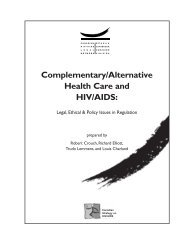 Complementary/Alternative Health Care and HIV/AIDS - Canadian ...