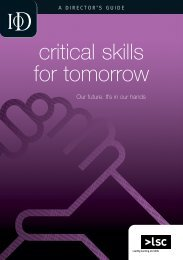 Director: Critical Skills for Tomorrow