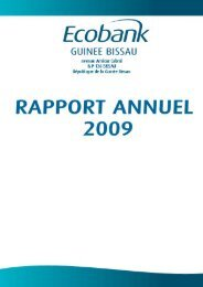 Rapport annuel 2009 - Ecobank
