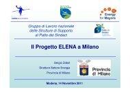 Il Progetto ELENA a Milano - Settimana della Bioarchitettura e della ...
