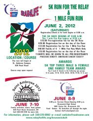 5k run for the relay & 1 mile fun run - St. Ambrose Catholic Parish