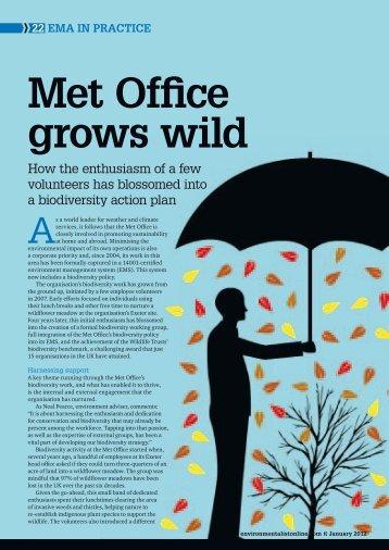 Environmentalist article (PDF, 981 kB) - Met Office
