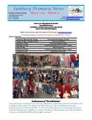 Newsletter No 13 May 9 2013 - Sunbury Primary School