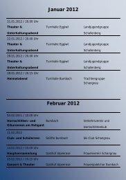 Veranstaltungen 2012 Web - Schangnau - Bumbach - Kemmeriboden