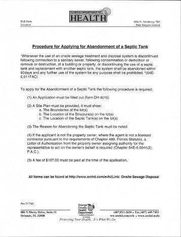 Application (PDF 162kb) - Orange County Health Department
