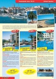Preistabelle Seite 20-21 Urlaub Spanien