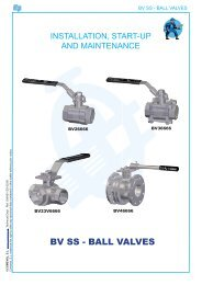 BV SS - BALL VALVES - COMEVAL