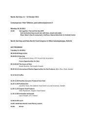 Nordic Oat Days 11 – 12 October 2011 - Ny Nordisk Mat