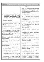 MANAL S.P.A - Ministère de l'énergie et des mines