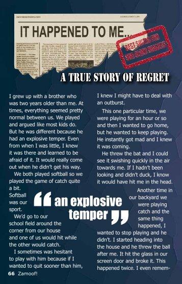 ''an explosive temper