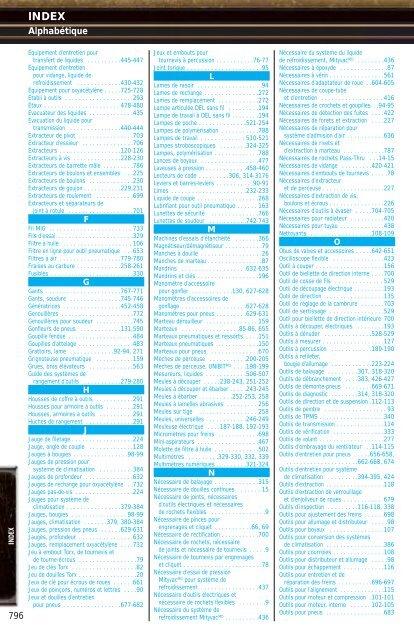 Index Index - NAPA Auto Parts