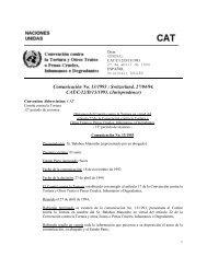 Comunicación No. 13/1993 del Comité contra la Tortura ... - Acnur