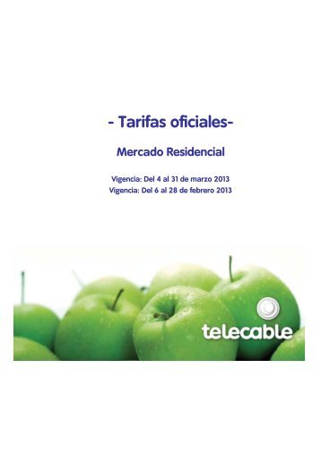 Tarifas oficiales - Telecable