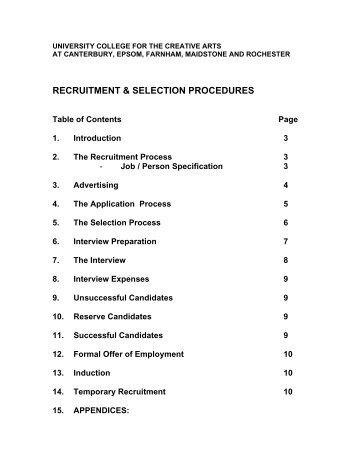 Recruitment & Selection Procedures