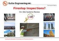Inspect - Sajid Raza, Butler Engineering - FCIA - Firestop ...