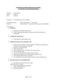 Protokoll der ordentlichen Jahreshauptversammlung am 25