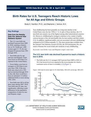 NCHS Data Brief, Number 89, April 2012 - Centers for Disease ...