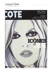 Cote Magazine - September 2009 - Chalet Spa