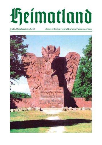 Heft 3/September 2012 Zeitschrift des Heimatbundes Niedersachsen