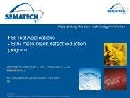 EUV mask blank defect reduction program - Sematech
