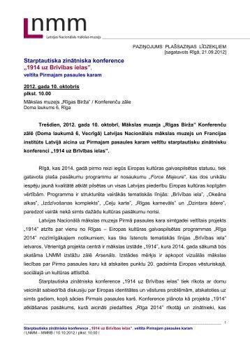 Latvijas Nacionālais mākslas muzejs - rpiva