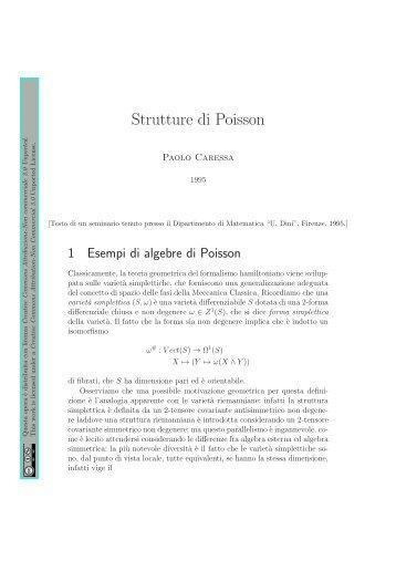 Strutture di Poisson - Caressa.it