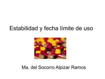 Estabilidad y fecha límite de uso - eVirtual UASLP