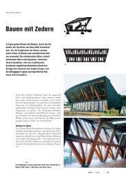 Bauen mit Zedern - Forum-HolzBau
