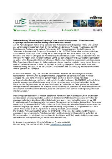 Newletter WFE 2_2013 2 - Wirtschaftsförderung Erzgebirge GmbH