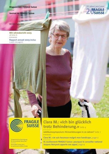 Jahresbericht 2009 - Fragile Suisse