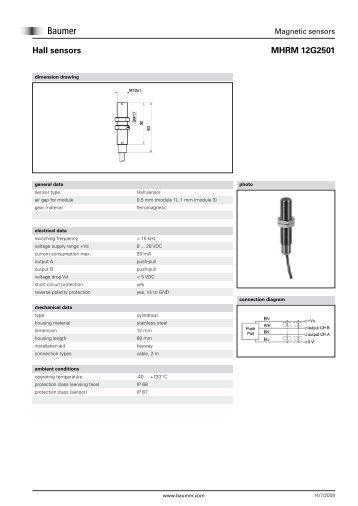 MHRM 12G2501 Hall sensors