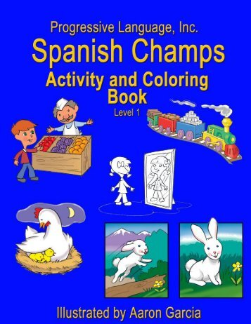 Spanish Champs Activity and Coloring Book