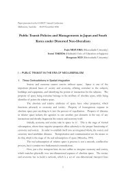 Public transit policies and management in Japan and South Korea ...
