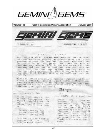 January 2008 - Gemini Gems