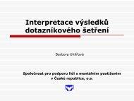 Prezentace výsledků dotazníkového šetření - Společnost pro ...