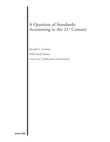 A Question of Standards: Accounting in the 21st Century - Certified ...