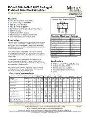 DC-6.0 GHz InGaP HBT Packaged Matched ... - Richardson RFPD