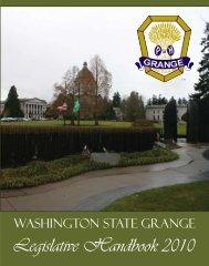 Legislative Handbook 2010 - Washington State Grange