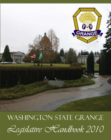 Legislative Handbook 2010 - Washington State Grange