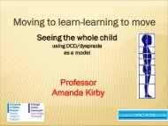 Moving to learn-learning to move - CHERI - The Children's Hospital ...