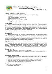 Oficina Astrolábio Digital: navegação e pesquisa na Internet Manual ...