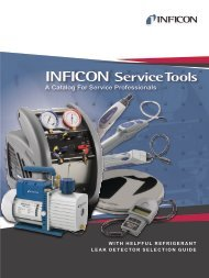 Inficon Refrigeration Service Tool Catalog 2012