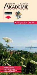 Programm 2010 - Heimat- und Wanderakademie Baden-Württemberg