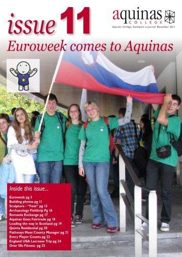 e-journal Issue 11 - Aquinas College