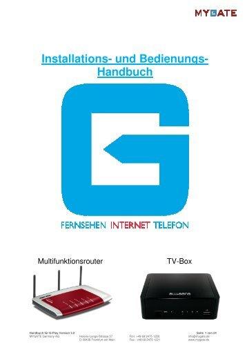 1108 DE Handbuch für G-Play Version 3.2 - MYGATE